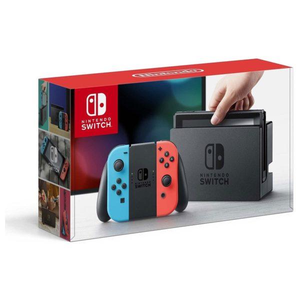Nintendo Switch Console 32GB With Neon Joy Con + Sparkfox W60S105 Premium Carry Case