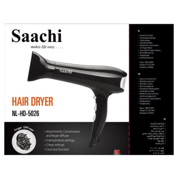 Saachi Hair Dryer NLHD5026BK