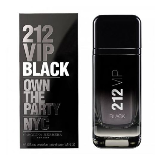 Carolina Herrera 212 Vip Black Perfume For Men 100ml Eau de Parfum
