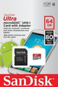 Sandisk SDSQUNC064GGN6MA Ultra Android Micro SD UHS-I Card C10 64GB
