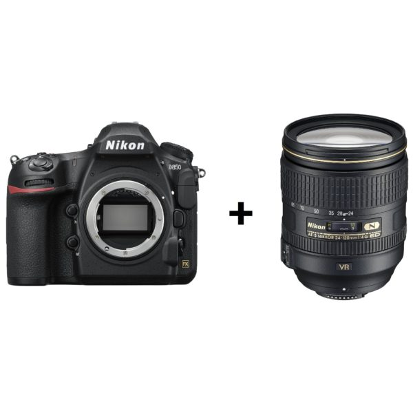 Nikon D850 DSLR Camera With AF-S NIKKOR 24-120mm f/4G ED VR Lens
