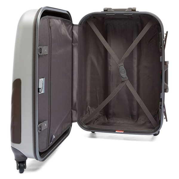 Eminent E8W225WHT ABS Spinner Trolley Luggage Bag Ivory White 25inch