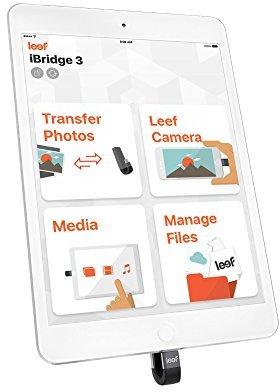 Leef LIB300KK128E1 IBridge MFI Mobile Memory Flash Drive White 128GB