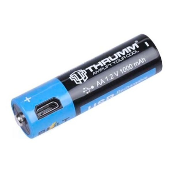 Thrumm Bolt AA Rechargeable Battery 2 Pieces