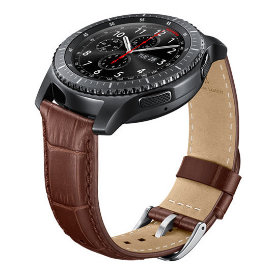 Samsung Alligator Grain Leather Band Brown For Gear S3 - ET-YSA76MDEGAE