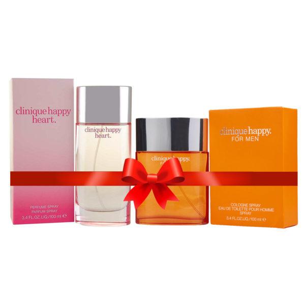 Clinique Happy Perfume For Men 100ml Eau de Toilette + Clinique Happy Heart Perfume For Women