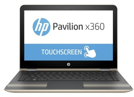 HP Pavilion x360 13-U100NE Convertible Touch Laptop - Core i3 2.4GHz 4GB 500GB+8GB Shared Win10 13.3inch FHD Gold