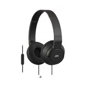 JVC Lightweight Wired Headphone Black HASR185B