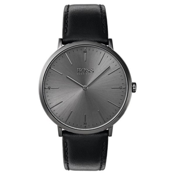 Hugo Boss Horizon Watch For Men with Black Leather Strap