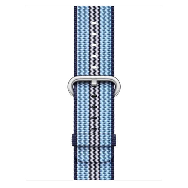 Apple Woven Nylon Band 38mm Midnight Blue Stripe - MQVJ2ZM/A