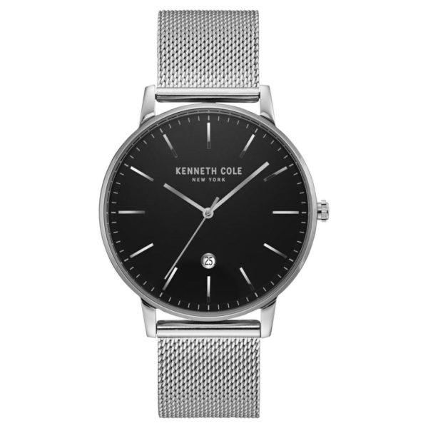 Kenneth Cole Classic Watch For Men with Silver Stainless Steel Bracelet
