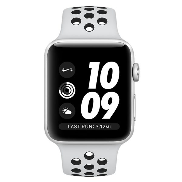 Apple Watch Nike+ Series 3 GPS - 42mm Silver Aluminium Case with Pure Platinum/Black Nike Sport Band