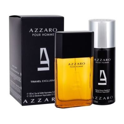 Azzaro Pour Homme Travel Gift Set For Men (Azzaro Pour Homme 100ml EDT + Deodorant Spray 150 ml)