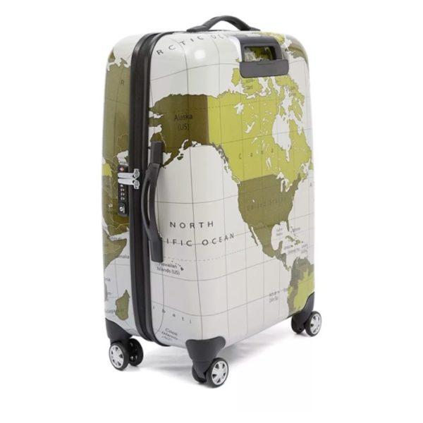 Eminent Map Spinner Trolley Luggage Bag Grey 28inch - KF3228GRY