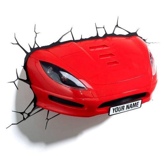 3DLightFX Sports Car 3D Decor Wall Light 10013