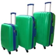 Highflyer THKELVIN3PC Kelvin Trolley Luggage Bag Green/Blue 3pc Set