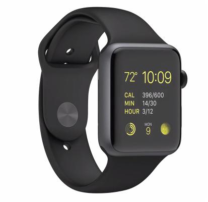 Buy Apple Watch Series 2 – 42mm Space Grey Aluminium Case with Black