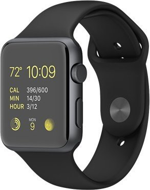 41b6119cf Apple Watch Series 1 - 38mm Silver Aluminium Case with White Sport Band