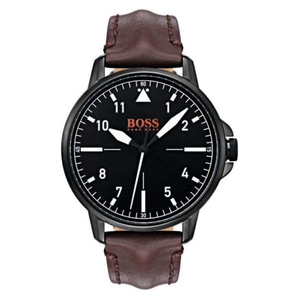 Hugo Boss Chico Watch For Men with Brown Leather Strap