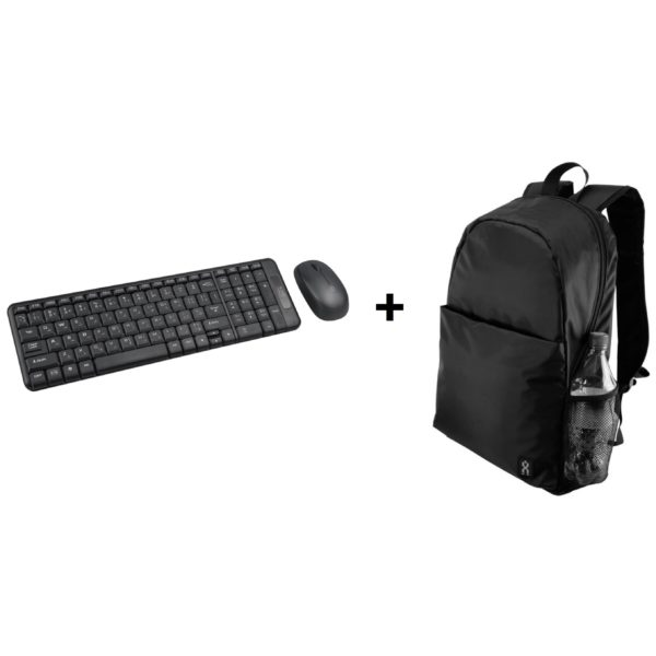Xcell KB200WL Wireless Combo Keyboard + BG200BP Laptop Back Pack 15.6inch