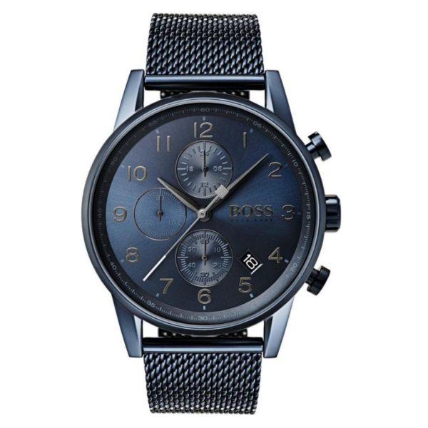 Hugo Boss Navigator Watch For Men with Blue Mesh Bracelet