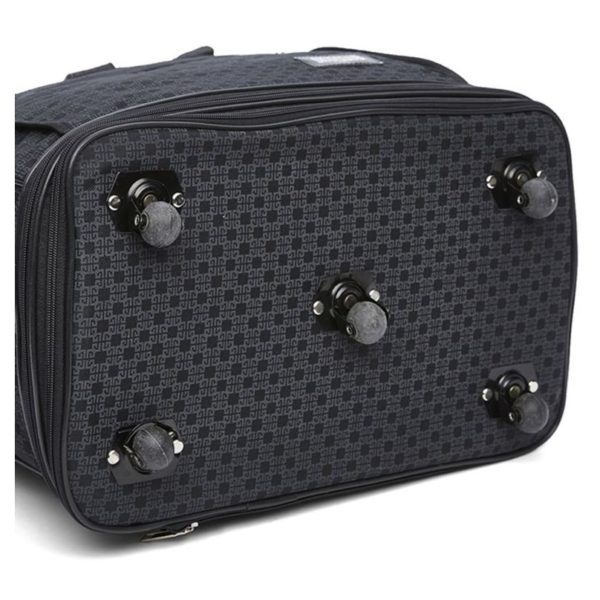 Sky Club AW2630BLK Zipper Travel Wheel Bag Black 30inch