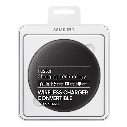 Samsung Wireless Charger Stand With Travel Adapter Black For S8/S8+ EP-PG950TBEGAE