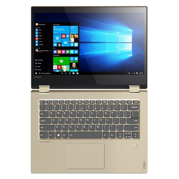 Lenovo Yoga 520 Convertible Touch Laptop - Core i7 1.8GHz 16GB 1TB 2GB Win10 14inch FHD Gold Metallic