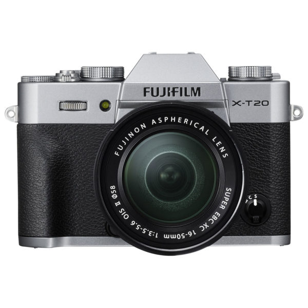 Fujifilm X-T20 Mirrorless Digital Camera Body Silver + XC 16-50mm f/3.5-5.6 OIS II Lens Kit