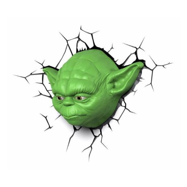 3DLightFX Star Wars Yoda Face 3D Decor Wall Light 50002