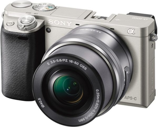 Sony ILCE6000YS A6000 Digital Mirrorless Camera Silver + 16-50mm + 55-210mm Lens