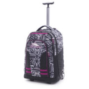 High Sierra 66IAY004 Blaise Trolley Backpack Geo Weave/Black/Razzmataz