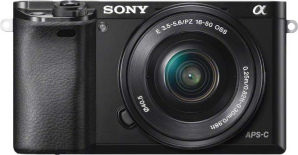Sony ILCE6000LB A6000 Digital Mirrorless Camera Black + 16-50mm Lens