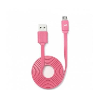 We Flat Reversible Micro USB Cable 1M Fushia
