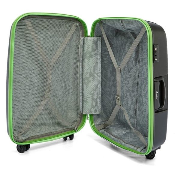 Senator PPB30BLK PP Spinner Trolley Luggage Bag Black 30inch