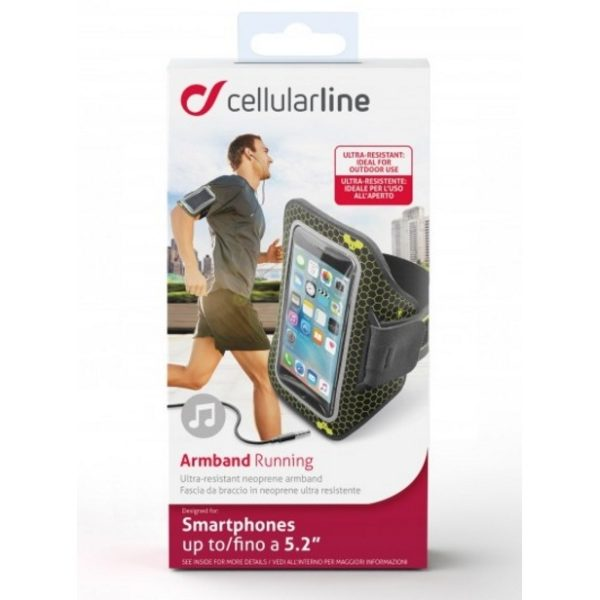 Cellular Line Armband Microfiber Black ARMBANDFIT55K
