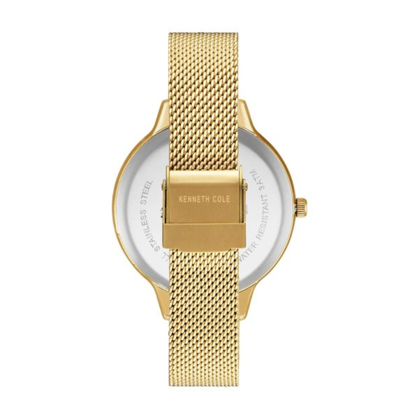 Kenneth Cole Classic Watch For Women with Gold Hamilton Gold Stainless Steel Bracelet