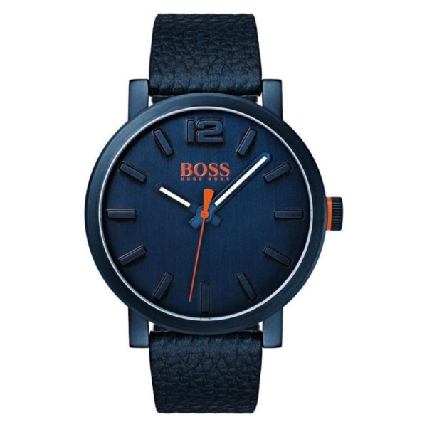 Hugo Boss Bilbao Watch For Men with Blue Leather Strap