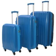 Highflyer THKELVIN3PC Kelvin Trolley Luggage Bag Blue 3pc Set