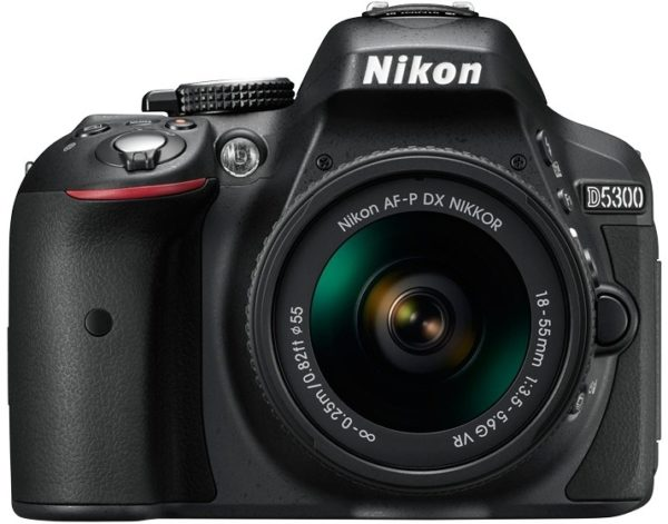 Nikon D5300 DSLR Camera Black With AF-P 18-55 VR Lens