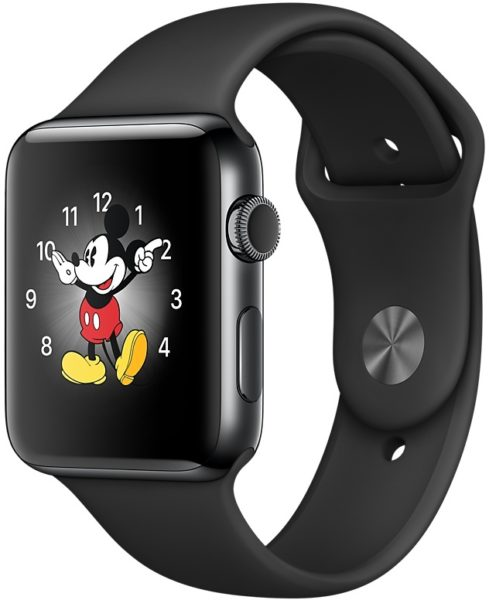 Apple Watch Series 2 - 38mm Space Black Stainless Steel Case with Black Sport Band