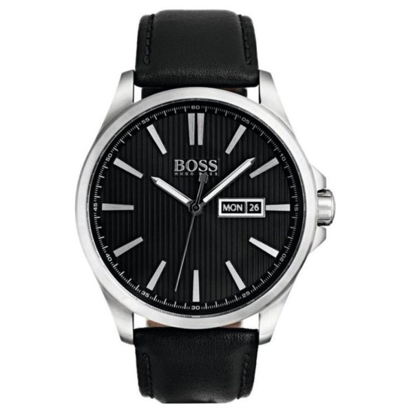Hugo Boss The James Watch For Men with Black Leather Strap