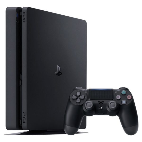 Sony PS4 Slim Console 500GB Jet Black + Gran Turismo The Real Driving Simulator Sport Game + Uncharted 4 A Thiefs End Game + Horizon Zero Dawn Complete Edition Game + 3 Months Playstation Plus Members