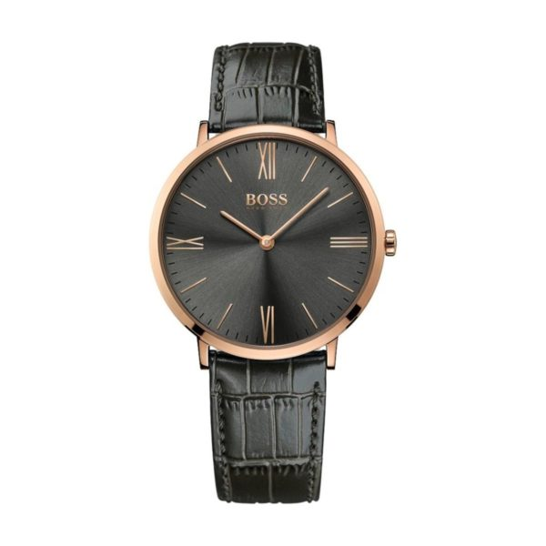 Hugo Boss JACKSON Watch For Men with Black Leather Strap