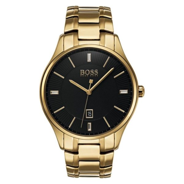 Hugo Boss Governor Watch For Men with Gold Metal Bracelet