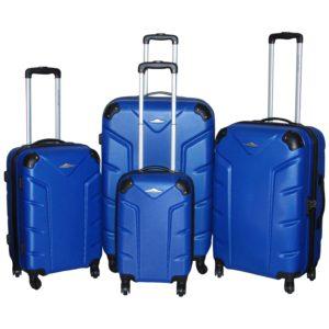 d3cf96af8f5ba Highflyer Flash Series Trolley Luggage Bag Blue 4pc Set THFLASH4PC