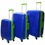 Highflyer THKELVIN3PC Kelvin Trolley Luggage Bag Blue/Green 3pc Set