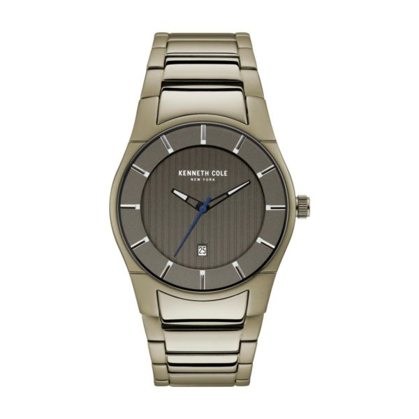 Kenneth Cole Slim Watch For Men with Silver Stainless Steel Bracelet
