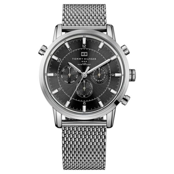 Tommy Hilfiger Harrison Watch For Men with Silver Mesh Bracelet