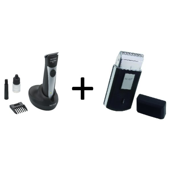 Moser 15910167 Professional Cordless Trimmer + 36150052 Rechargeable Travel Shaver